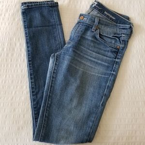 7 For All Mankind Roxanne Skinny Jeans, Sz 28